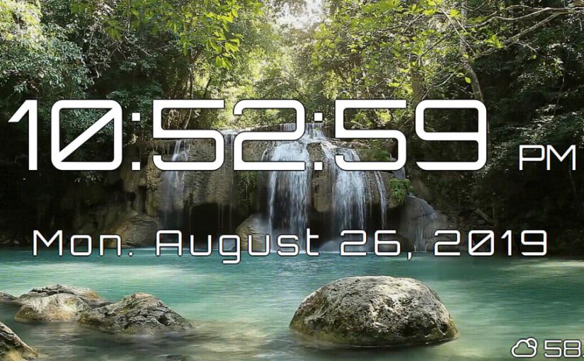 Digital Clock – Full Screen